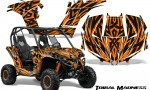 Can am Maverick CreatorX Graphics Kit Tribal Madness Orange 150x90 - Can-Am BRP Maverick 1000 X rs 1000r 2013-2015 Graphics