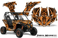Can-am-Maverick-CreatorX-Graphics-Kit-Tribal-Madness-Orange