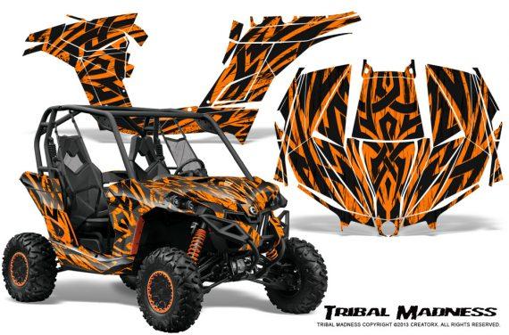 Can am Maverick CreatorX Graphics Kit Tribal Madness Orange 570x376 - Can-Am BRP Maverick 1000 X rs 1000r 2013-2015 Graphics