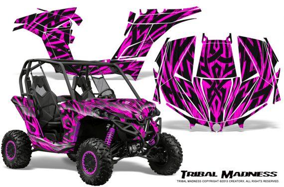 Can am Maverick CreatorX Graphics Kit Tribal Madness Pink 570x376 - Can-Am BRP Maverick 1000 X rs 1000r 2013-2015 Graphics