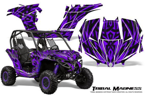 Can am Maverick CreatorX Graphics Kit Tribal Madness Purple 570x376 - Can-Am BRP Maverick 1000 X rs 1000r 2013-2015 Graphics