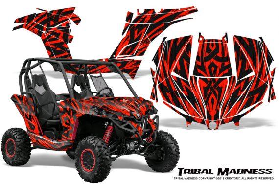 Can am Maverick CreatorX Graphics Kit Tribal Madness Red 570x376 - Can-Am BRP Maverick 1000 X rs 1000r 2013-2015 Graphics