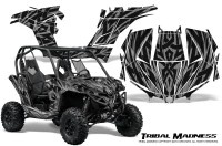 Can-am-Maverick-CreatorX-Graphics-Kit-Tribal-Madness-Silver