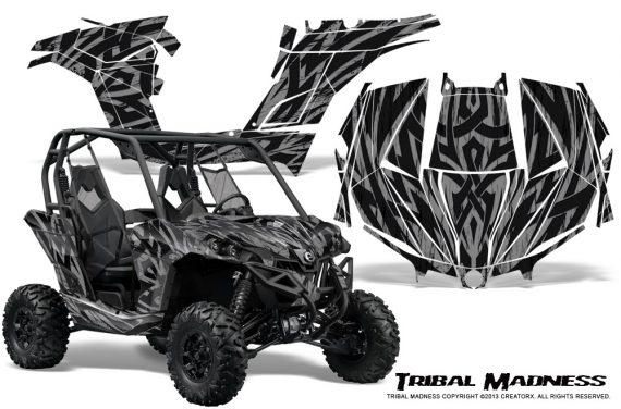Can am Maverick CreatorX Graphics Kit Tribal Madness Silver 570x376 - Can-Am BRP Maverick 1000 X rs 1000r 2013-2015 Graphics