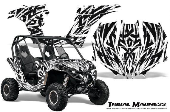 Can am Maverick CreatorX Graphics Kit Tribal Madness White 570x376 - Can-Am BRP Maverick 1000 X rs 1000r 2013-2015 Graphics