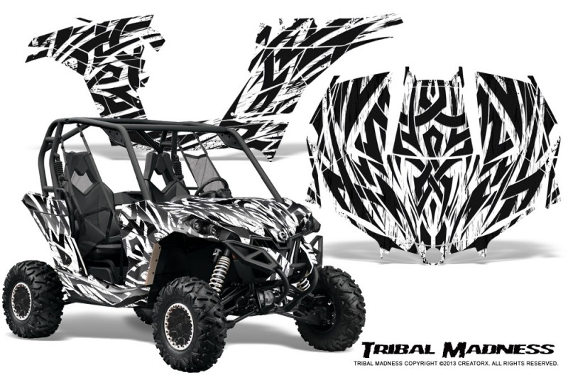 Can-am-Maverick-CreatorX-Graphics-Kit-Tribal-Madness-White