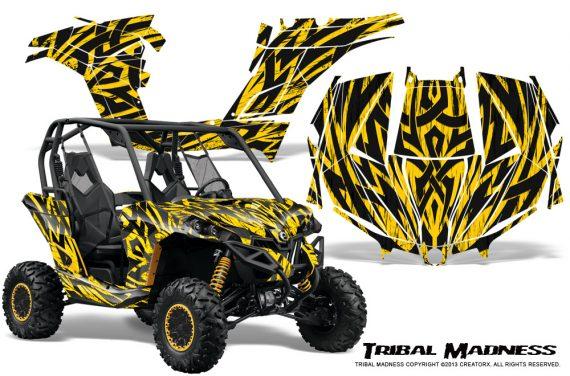 Can am Maverick CreatorX Graphics Kit Tribal Madness Yellow 570x376 - Can-Am BRP Maverick 1000 X rs 1000r 2013-2015 Graphics