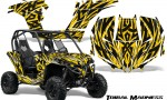 Can am Maverick CreatorX Graphics Kit Tribal Madness Yellow BB 150x90 - Can-Am BRP Maverick 1000 X rs 1000r 2013-2015 Graphics