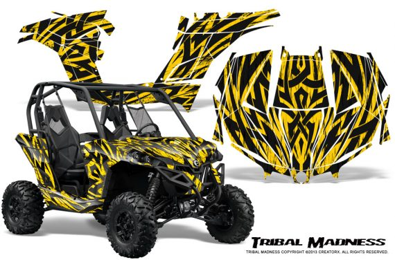 Can am Maverick CreatorX Graphics Kit Tribal Madness Yellow BB 570x376 - Can-Am BRP Maverick 1000 X rs 1000r 2013-2015 Graphics