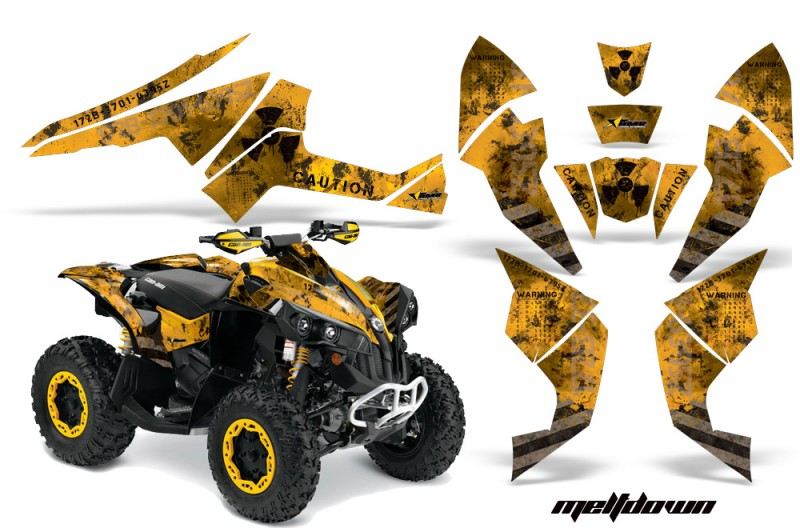 CanAm-Renegade-800-AMR-Graphic-Kit-Meltdown-k-yellow
