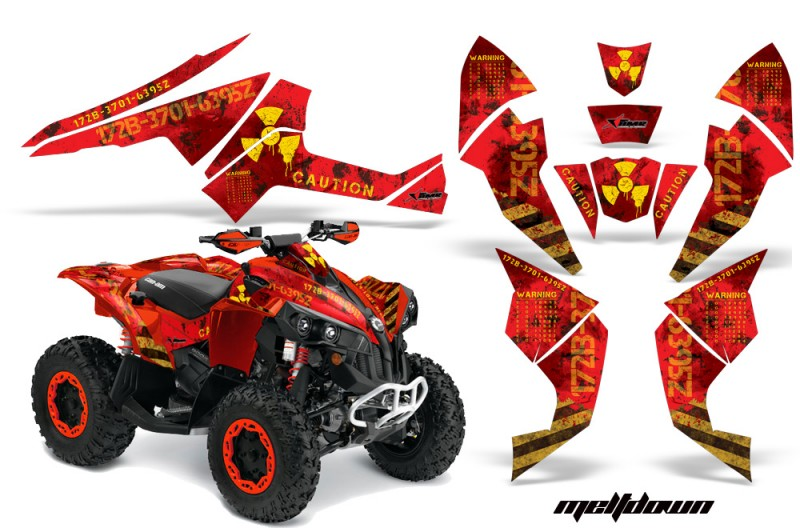 CanAm-Renegade-800-AMR-Graphic-Kit-Meltdown-yellow-red
