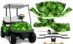 Club Car Precedent i2 Graphics Kit Backdraft Green 150x90 - Club Car Precedent I2 2008-2013 Golf Cart Graphics