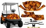 Club Car Precedent i2 Graphics Kit Backdraft Orange 150x90 - Club Car Precedent I2 2008-2013 Golf Cart Graphics