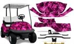 Club Car Precedent i2 Graphics Kit Backdraft Pink 150x90 - Club Car Precedent I2 2008-2013 Golf Cart Graphics