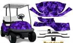 Club Car Precedent i2 Graphics Kit Backdraft Purple 150x90 - Club Car Precedent I2 2008-2013 Golf Cart Graphics