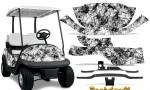 Club Car Precedent i2 Graphics Kit Backdraft White 150x90 - Club Car Precedent I2 2008-2013 Golf Cart Graphics