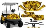 Club Car Precedent i2 Graphics Kit Backdraft Yellow 150x90 - Club Car Precedent I2 2008-2013 Golf Cart Graphics