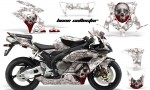 HONDA CBR 1000RR 04 05 AMR Graphics Kit Bone Collector WHITE 150x90 - Honda CBR 1000RR 2004-2005 Graphics