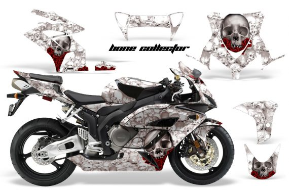 HONDA CBR 1000RR 04 05 AMR Graphics Kit Bone Collector WHITE 570x376 - Honda CBR 1000RR 2004-2005 Graphics