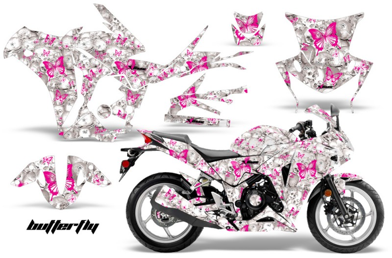 Honda-CBR-250R-10-13-AMR-Graphics-Kit-Wrap-Butterfly-PW