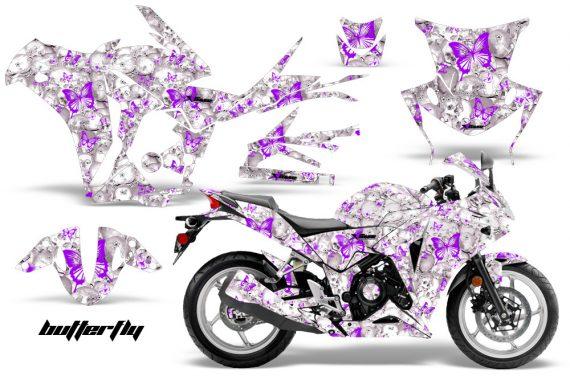 Honda CBR 250R 10 13 AMR Graphics Kit Wrap Butterfly Purple White 570x376 - Honda CBR 250R 2010-2013 Graphics