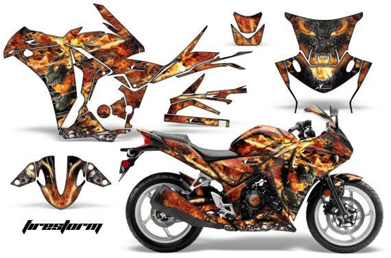 Honda CBR 250R 10 13 AMR Graphics Kit Wrap Firestorm K 570x376 - Honda CBR 250R 2010-2013 Graphics