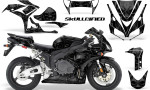 Honda CBR1000 06 07 CreatorX Graphics Kit Skullcified Black 150x90 - Honda CBR 1000RR 2006-2007 Graphics
