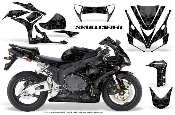 Honda CBR1000 06 07 CreatorX Graphics Kit Skullcified Black 570x376 - Honda CBR 1000RR 2006-2007 Graphics