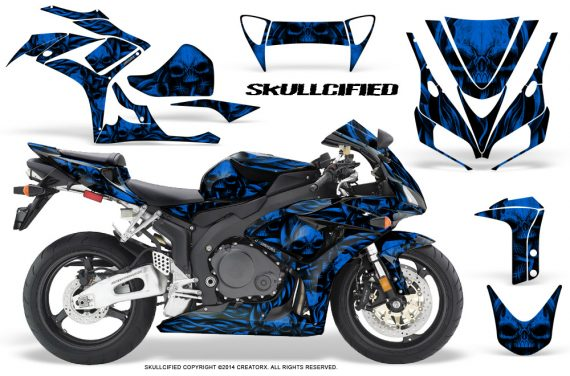 Honda CBR1000 06 07 CreatorX Graphics Kit Skullcified Blue 570x376 - Honda CBR 1000RR 2006-2007 Graphics