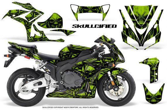 Honda CBR1000 06 07 CreatorX Graphics Kit Skullcified Green 570x376 - Honda CBR 1000RR 2006-2007 Graphics