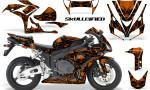 Honda CBR1000 06 07 CreatorX Graphics Kit Skullcified Orange 150x90 - Honda CBR 1000RR 2006-2007 Graphics