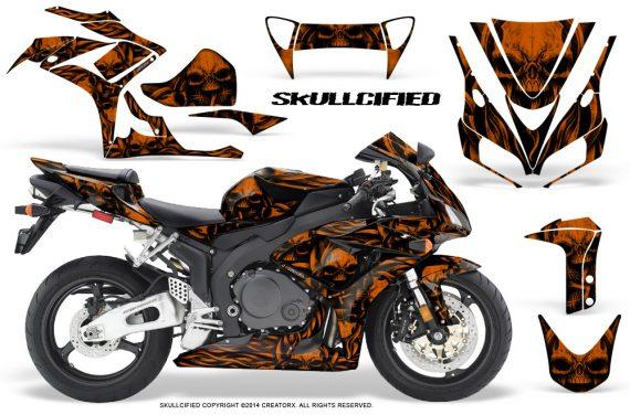 Honda CBR1000 06 07 CreatorX Graphics Kit Skullcified Orange 570x376 - Honda CBR 1000RR 2006-2007 Graphics