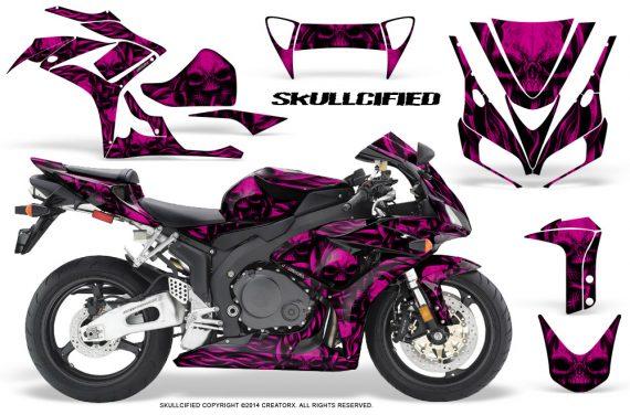 Honda CBR1000 06 07 CreatorX Graphics Kit Skullcified Pink 570x376 - Honda CBR 1000RR 2006-2007 Graphics