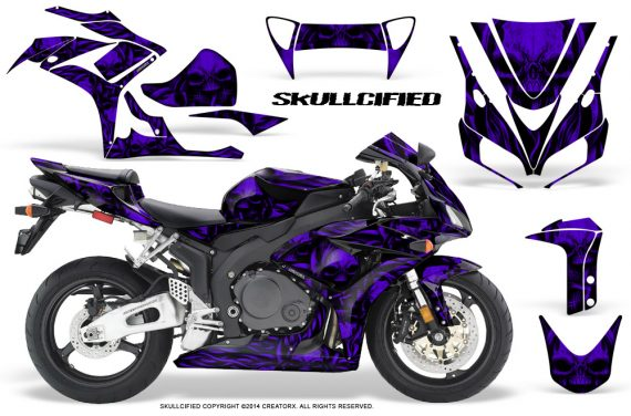 Honda CBR1000 06 07 CreatorX Graphics Kit Skullcified Purple 570x376 - Honda CBR 1000RR 2006-2007 Graphics