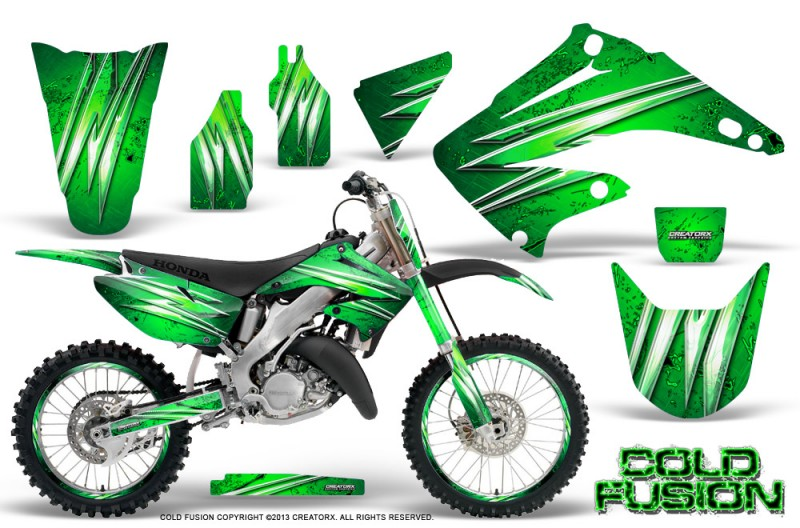 Honda-CR125-CR250-02-10-CreatorX-Graphics-Kit-Cold-Fusion-Green-NP-Rims