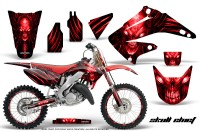 Honda-CR125-CR250-02-10-CreatorX-Graphics-Kit-Skull-Chief-Red-NP-Rims