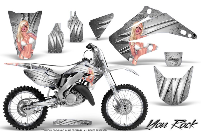 Honda-CR125-CR250-02-10-CreatorX-Graphics-Kit-You-Rock-White-NP-Rims