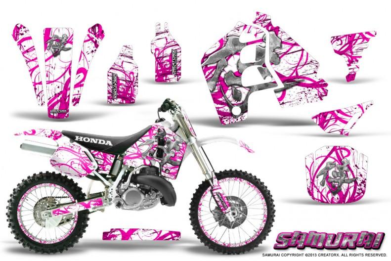 Honda-CR500-CreatorX-Graphics-Kit-Samurai-Pink-White-NP-Rims