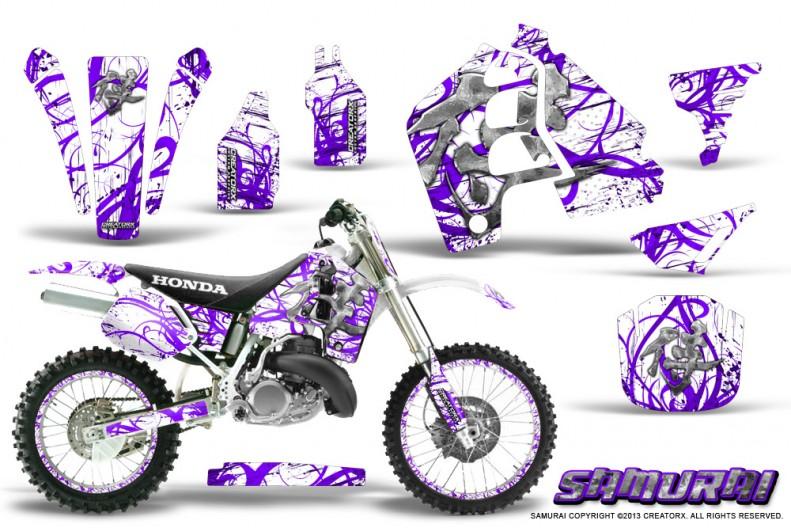 Honda-CR500-CreatorX-Graphics-Kit-Samurai-Purple-White-NP-Rims