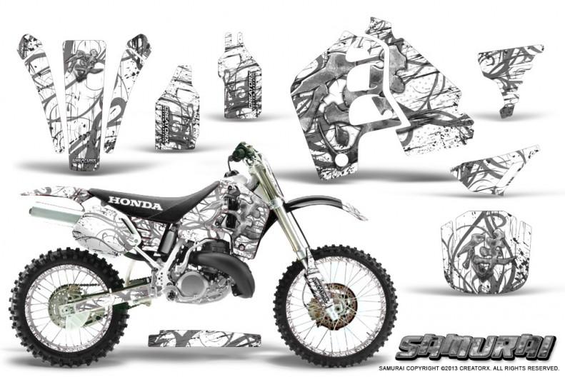 Honda-CR500-CreatorX-Graphics-Kit-Samurai-Silver-White-NP-Rims