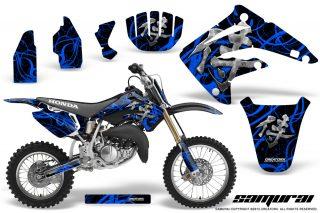 Honda CR85 03 07 CreatorX Graphics Kit Samurai Blue Black NP 320x213 - Honda CR85 2003-2007 Graphics
