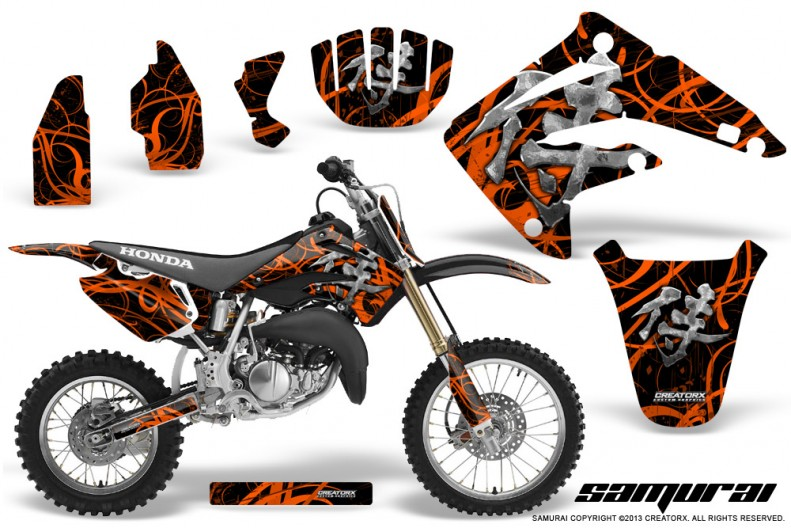 Honda-CR85-03-07-CreatorX-Graphics-Kit-Samurai-Orange-Black-NP