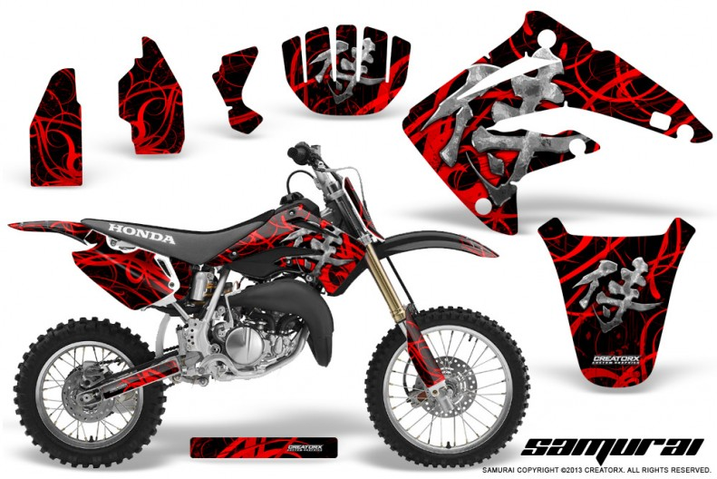 Honda-CR85-03-07-CreatorX-Graphics-Kit-Samurai-Red-Black-BB-NP