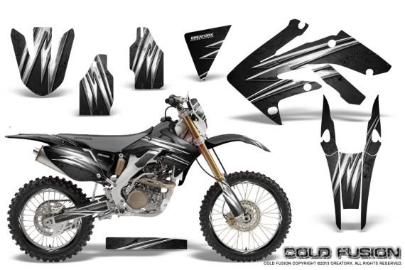 Honda CRF 250X 04 12 CreatorX Graphics Kit Cold Fusion Black NP Rims 570x380 - Honda CRF250X 2004-2018 Graphics