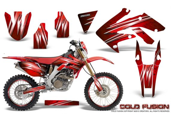 Honda CRF 250X 04 12 CreatorX Graphics Kit Cold Fusion Red NP Rims 570x380 - Honda CRF250X 2004-2018 Graphics