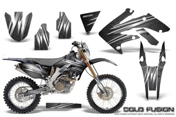 Honda CRF 250X 04 12 CreatorX Graphics Kit Cold Fusion Silver NP Rims 570x380 - Honda CRF250X 2004-2018 Graphics