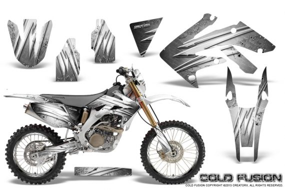 Honda CRF 250X 04 12 CreatorX Graphics Kit Cold Fusion White NP Rims 570x380 - Honda CRF250X 2004-2018 Graphics