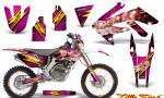 Honda CRF 250X 04 12 CreatorX Graphics Kit Little Sins Pink NP Rims 150x90 - Honda CRF250X 2004-2018 Graphics