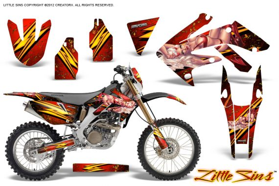 Honda CRF 250X 04 12 CreatorX Graphics Kit Little Sins Red BB NP 570x380 - Honda CRF250X 2004-2018 Graphics