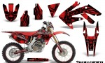 Honda CRF 250X 04 12 CreatorX Graphics Kit Skullcified Red NP Rims 150x90 - Honda CRF250X 2004-2018 Graphics